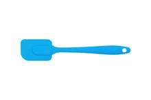 Blue Rubber Or Silicone Spatul...