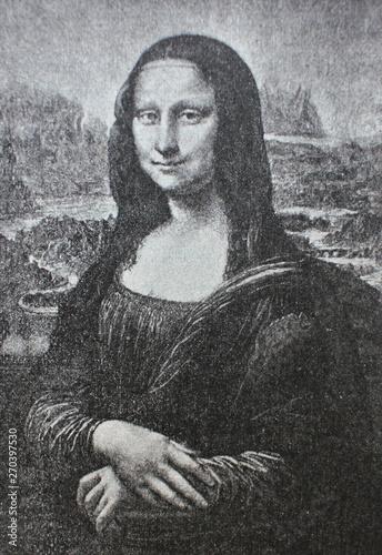 Fotografía TheMona Lisa or La Gioconda by Leonardo Da Vinci in the vintage book Leonardo Da Vinci by M