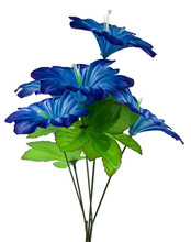 Artificial Blue Flowers Isolated On White Background