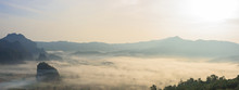 Panoramic Foggy Landscape With...