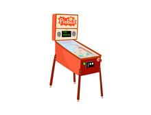 Pinball Machine Isolated On Wh...
