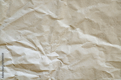Fotografie, Tablou  Crumpled paper. Recycled paper, brown