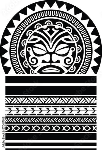 Polynesian Tattoo Sleeve Shoulder Sketch Pattern Vector Samoan