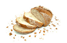 Sourdough Bread On White Background