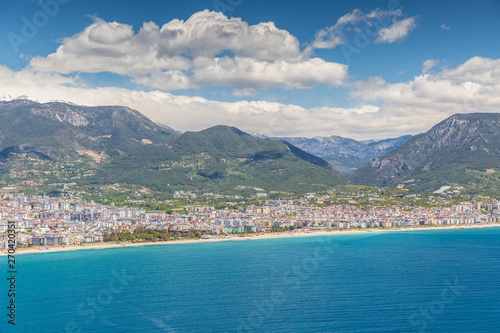 Photo Stands Caribbean Aerial View of Alanya in Turkey
