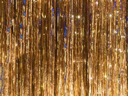 Obraz Vibrant metal foil tinsel background - fototapety do salonu
