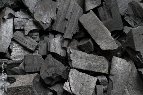 Black wood charcoal texture background Canvas Print