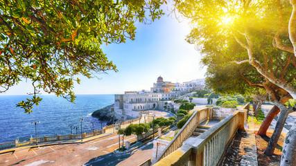 Beautiful coastal town in  Santa Cesarea Terme in Salento region of Italy