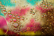 canvas print picture - Oil on the surface of the water