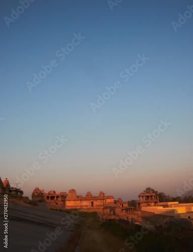 Poster Corail Sunrise view of Hampi, India