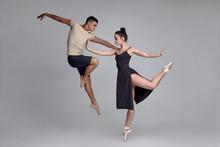 Two Athletic Modern Ballet Dan...