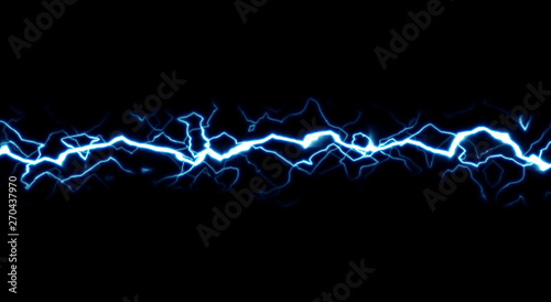Photo  Cartoon lightning style isolated on black background