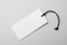 Cardboard Tag With Space For Text On Light Background, Top View