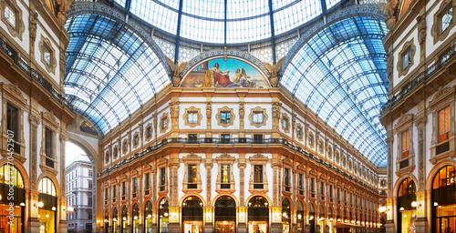 Obraz na plátně Milan, Italy, Galleria Vittorio Emanuele II