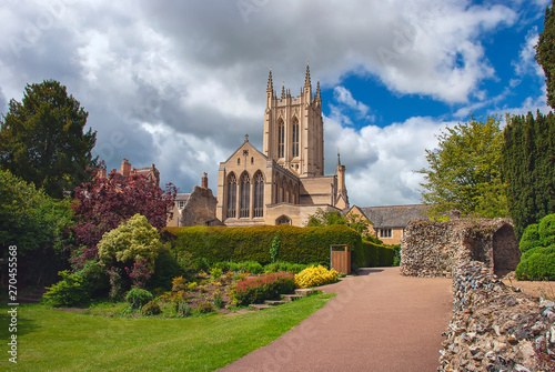 St Edmundsbury Cathedral is the cathedral for the Church of England's Diocese of St Edmundsbury and Ipswich Canvas Print