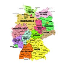 Mappa Dettagliata Germania