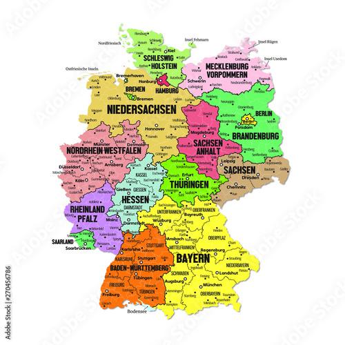 Photo mappa dettagliata Germania