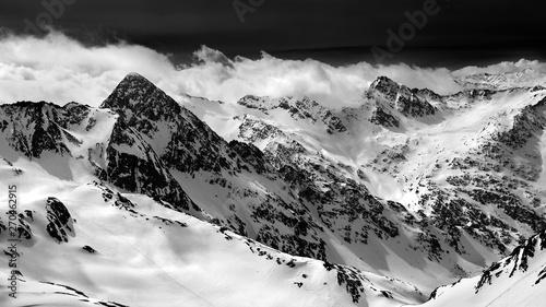 Foto op Plexiglas Grijs Stubai glacier , Austria , Alps