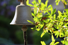 An Old Entrance Bell In The Yard