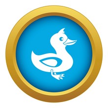 Black Duck Icon Blue Vector Isolated On White Background For Any Design