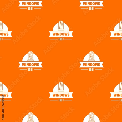 Photographie  Modern window pattern vector orange for any web design best