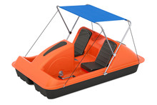 Paddle Boat With Canopy, 3D Rendering