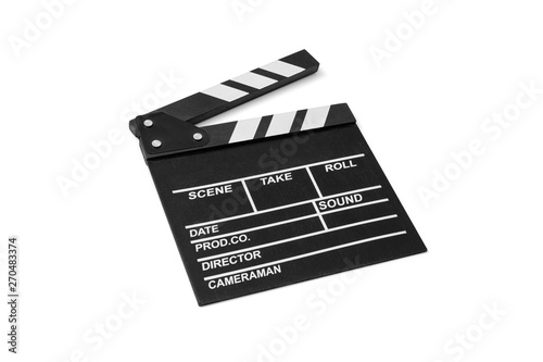 Stampa su Tela Movie flapper on white background, including clipping path