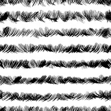 Scribbles Ink Brushstrokes Seamless Pattern. Hand Drawn Abstract Paint Texture.