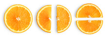 Orange Slices Isolated