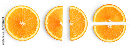 Carta da parati Orange slices isolated