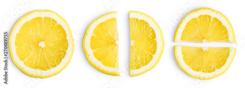 Fotografía  Lemon slices isolated