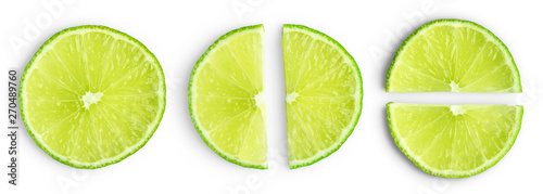 Lime slices isolated - 270489760