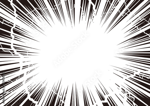 Photo 雷の様にショック 集中線
