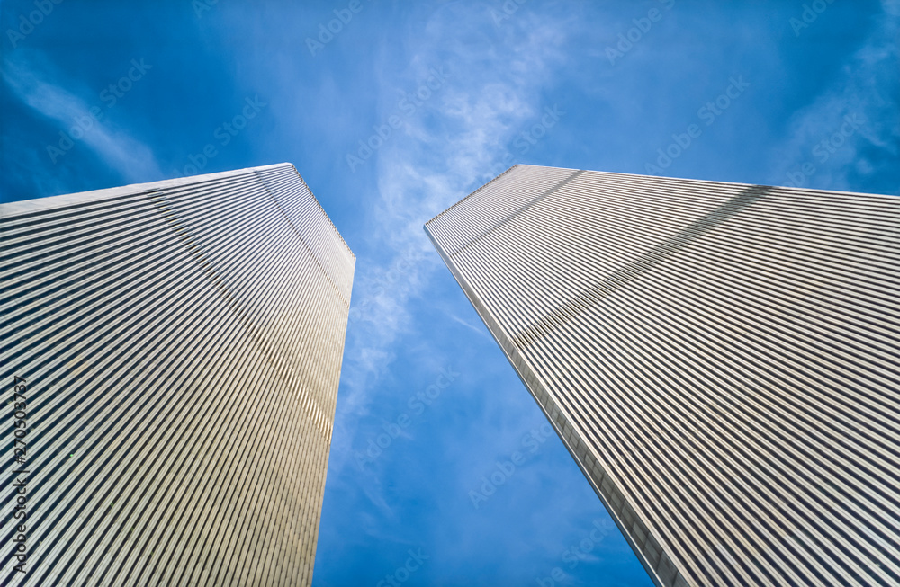 Fototapety, obrazy: The Twin Towers of the World Trade Center, Manhattan, New York, USA