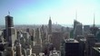 Top aerial view at Manhattan in New York, skyscrapers and city streets