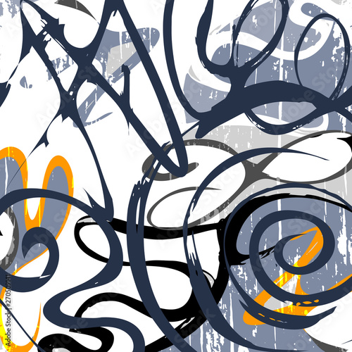 Photo  Abstract geometric colored background in the style of graffiti