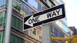 One way road sign in New York city