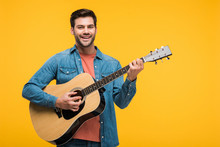 Handsome Smiling Man Playing A...