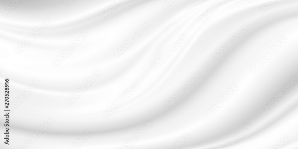 Fototapeta White cosmetic cream background