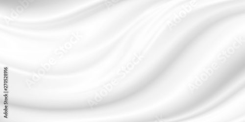 White cosmetic cream background Canvas Print