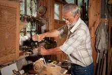Vintage Shed And Carpenter