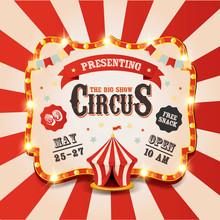 Circus Tent. Vintage Circus Ba...