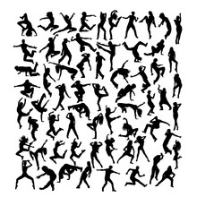 Break Dancer Silhouettes, Art ...