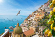 Beautiful Positano on Amalfi Coast in Campania, Italy