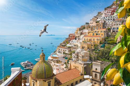 Obraz Beautiful Positano on Amalfi Coast in Campania, Italy - fototapety do salonu