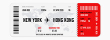 Realistic Airline Ticket Desig...