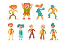 Flat Vector Set Of Evil Clowns...