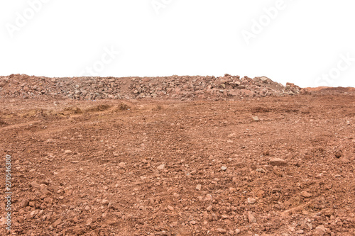 Large areas of gravel land and construction waste on construction sites Fototapet