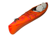 Orange Kayak Isolated On A Whi...