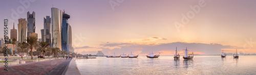Fototapeta  The skyline of West Bay and Doha City, Qatar